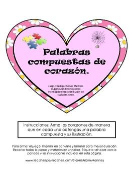 PALABRAS COMPUESTAS DE CORAZON