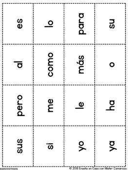 PALABRAS DE USO FRECUENTE | High frequency words (Spanish) |+150 tarjetas|