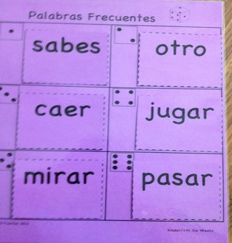 PALABRAS FRECUENTES - 3rd Six Weeks