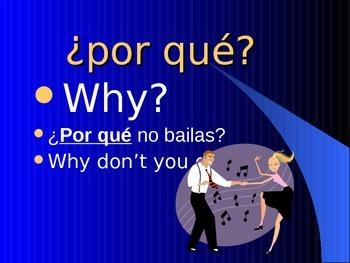 PALABRAS INTERROGATIVAS. QUESTION WORDS IN SPANISH.