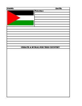 PALESTINE Summary Writing and Mural Assignment