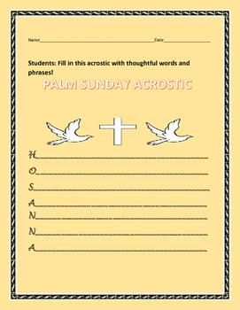 PALM SUNDAY ACROSTIC
