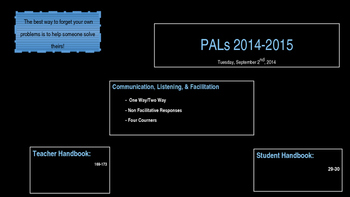 PALs PPT to Accompony Workbook Week Four