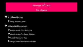 PALs PPT to Accompony Workbook Week Six