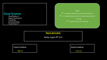 PALs PPT to Accompony Workbook Week Two