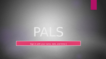 PALs Problem Solving PPT