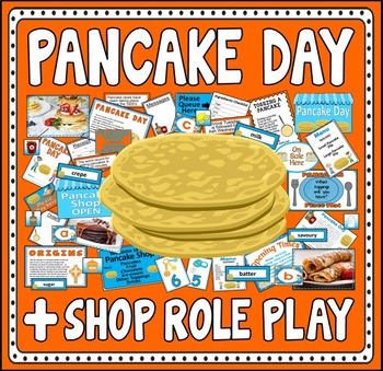 PANCAKE DAY AND SHOP ROLE PLAY TEACHING RESOURCES EYFS KS1-2 FOOD TRADITIONS