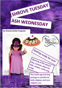 PANCAKE TUESDAY AND ASH WEDNESDAY- a cultural learning package