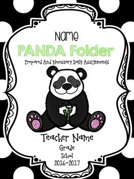 PANDA Communication Folder