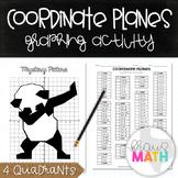 PANDA DAB: Coordinate Plane Graphing Activity! (All 4 Quadrants)