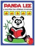 PANDA LEE Y ESCRIBE LAS SILABAS INVERSAS ..... ab - eb - i