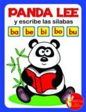 PANDA LEE Y ESCRIBE LAS SILABAS ..... ba - be - bi - bo - bu