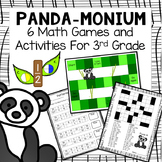 PANDA-MONIUM: 6 Math Games and Centers for 3rd Grade