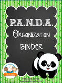 PANDA Student Organization and Parent Communication Binder {personalize it}