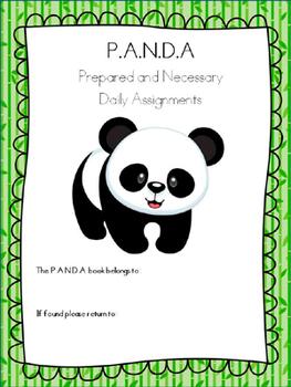 PANDA Student Organization and Parent Communication Binder {personalize it}