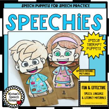 PAPER BAG SPEECH PUPPETS worksheets  NO PREP