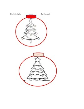 PAPER CHRISTMAS BULBS: A DECORATE, DRAW, COLOR, CUT  & PASTE ACTIVITY