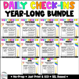 PAPER Daily Check-In -YEAR LONG -Grades 3-5