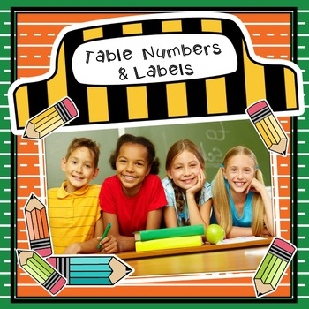 PAPER & PENCILS TABLE NUMBERS