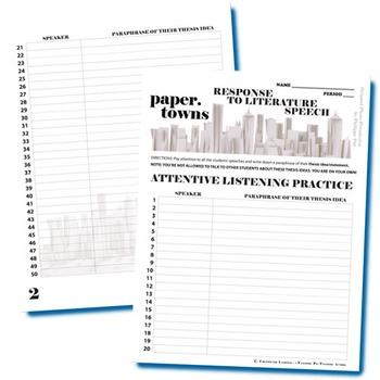 paper towns essay topics