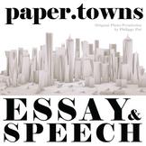 PAPER TOWNS Essay Prompts & Grading Rubrics