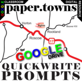 PAPER TOWNS Journal - Quickwrite Writing Prompts (Created for Digital