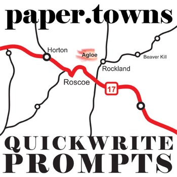PAPER TOWNS Journal - Quickwrite Writing Prompts - PowerPoint