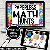 PAPERLESS Math Hunts for Distance Learning (Google Slides
