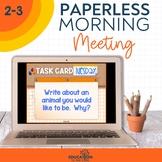 PAPERLESS Morning Meeting Slides for 2nd & 3rd Grade | Mor