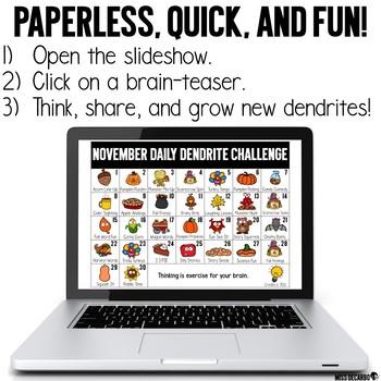 PAPERLESS November Daily Dendrite Challenge