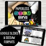 PAPERLESS STEM Bins® for Distance Learning (Google Slides