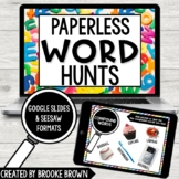 PAPERLESS Word Hunts for Distance Learning (Google Slides