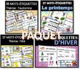 PAQUET – Mots étiquettes – Les 4 saisons