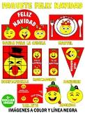 CHRISTMAS BUNDLE | PAQUETE FELIZ NAVIDAD | SPANISH | CHRISTMAS CRAFTS FOR KIDS