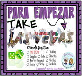 PARA EMPEZAR Takes LAS VEGAS * Speaking & Writing Practice