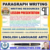 PARAGRAPH WRITING : LESSON PRESENTATION