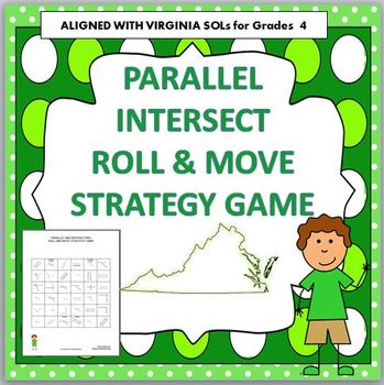 PARALLEL and INTERSECT Roll and Move Strategy Game 4th Gra