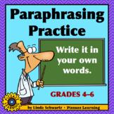 PARAPHRASING PRACTICE • USING SCIENCE TOPICS