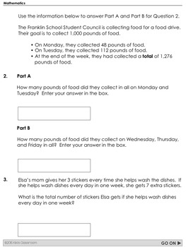 PARCC Math Test Prep 3rd Grade  Printable Practice for Standardized Tests