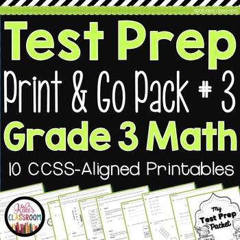 PARCC Math Test Prep 3rd Grade - Printable Practice for Standardized Tests