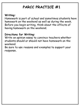 PARCC-like 4th Grade Writing