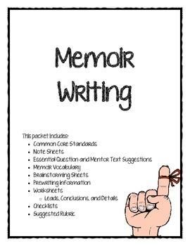 PARCC/CC Aligned Memoir Writing Packet