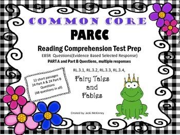 PARCC Common Core Reading Test Prep EBSR Part A Part B Fai