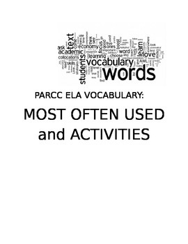 PARCC ELA:  Most Often Used Vocabulary Words