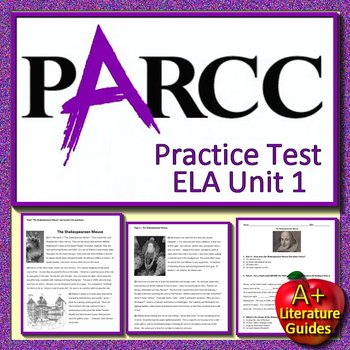 6th Grade PARCC ELA Practice Test Unit 1  - Get Ready for State Testing!