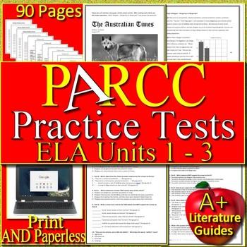 PARCC ELA Test Prep Bundle Grades 5 - 7 Google Ready