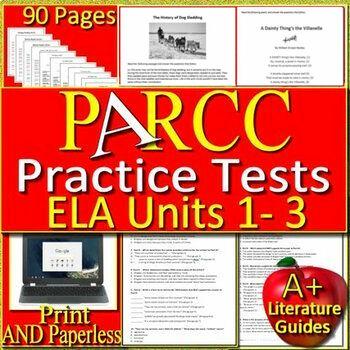 PARCC ELA Test Prep BIG Bundle - Practice Units 1 - 3 - Printable AND Paperless