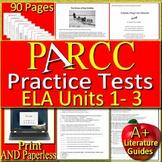 PARCC ELA Test Prep BIG Bundle - Practice Units 1 - 3 Grades 6 - 8