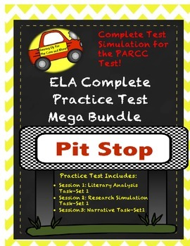 PARCC ELA Test Prep-Mega Bundle- Complete Test Simulation