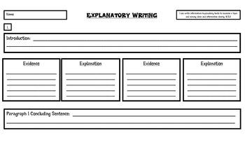 PARCC Explanatory Text-Based Writing Organizer